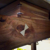 Butterfly joints are used to prevent splits from spreading further.