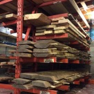 The lumber rack with North American tree species.