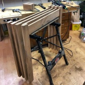 Legs and rails glued-up.