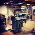 The workshop looking unusually tidy.