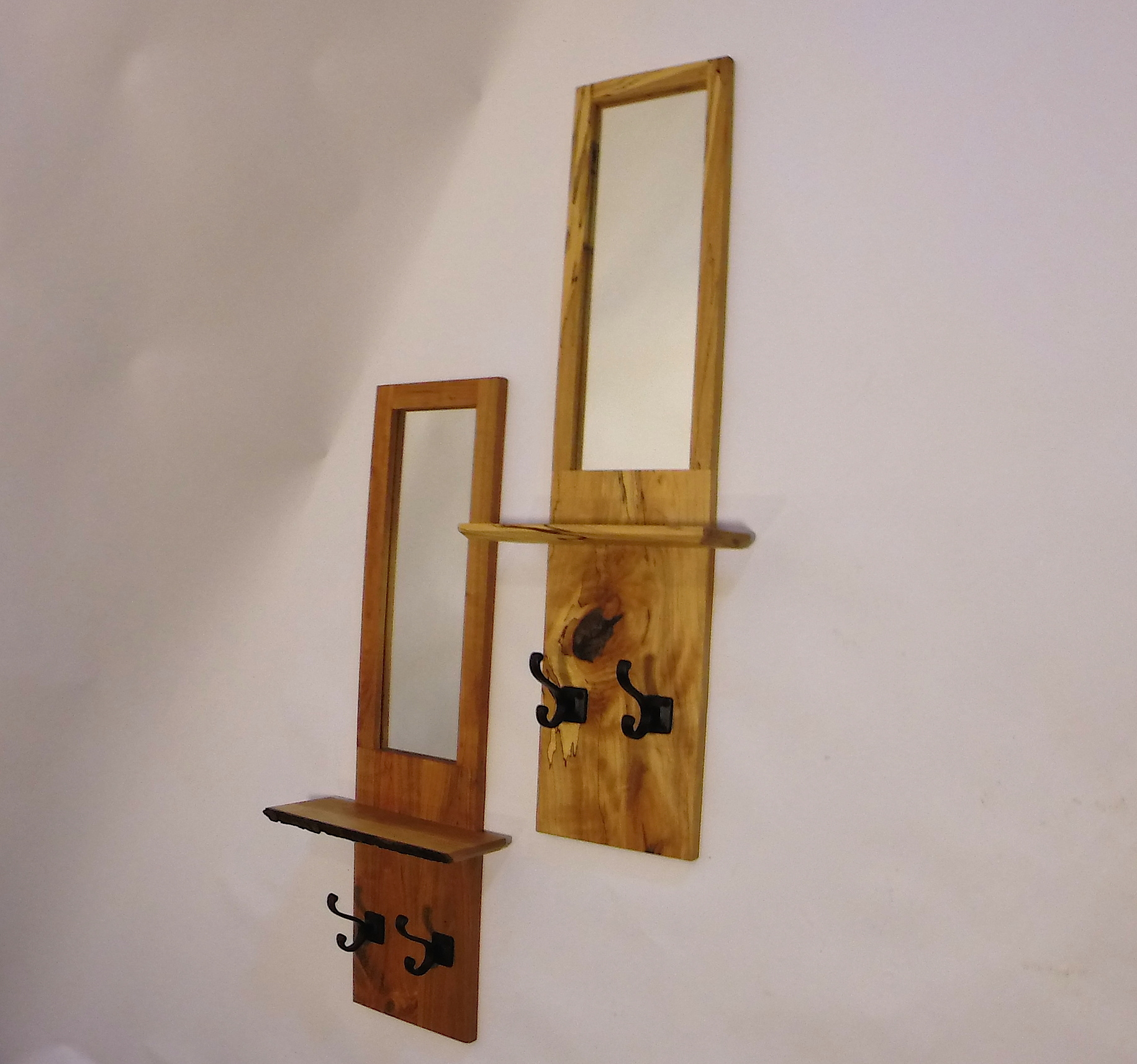 Wall mirrors with shelves and hooks dwyer wood wall mirrors with shelf and hooks amipublicfo Images
